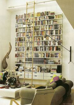 "New York Spaces magazine, ""Modern Nest"", features this library space in an East 53rd St. loft."