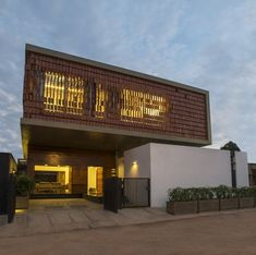 Pete Mane, Gundlupet Residence by Architecture Paradigm from Architizer Facade Architecture, Residential Architecture, Amazing Architecture, Japanese Architecture, House Layout Plans, House Layouts, House Plans, Mysore, Wooden Gate Designs
