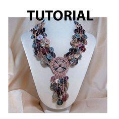 Crochet+Button+Necklace+Pattern | Dream Catcher Crochet Button Necklace Tutorial by ljeans on Etsy