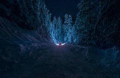 Resultado de imagen para noche nevada