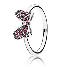 I NEEEEED THIS!!!!! Minnie Mouse Sparkling Bow Ring by PANDORA