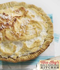 Alan's Favorite Coconut Cream Pie from Miss Kay's Duck Commander Kitchen #Recipes #Cookbook #DuckDynasty #FreeBook