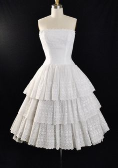 Vintage 50s Lanz Dress / 1950s Eyelet by GeronimoVintage on Etsy
