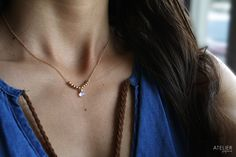 ATELIER GABY MARCOS Jewelry - Delicate goldfilled & moonstone necklace #ateliergabymarcos