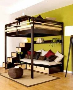 Ideas for small bedrooms, I'd actually like this for myself lol