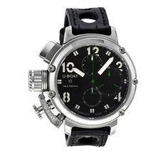 U-Boat Chimera Chronograph Automatic Stainless Steel Black Leather Men's Watch - Every item sold by Branded Watches sale is a 100% genuine item supplied to us directly from the manufacturer. We do not sell second hand or replica watches.  if for any reason you are unhappy with your purchase, as long as it is in original and unworn condition, you can return it to us for a full refund within 365 days of delivery.