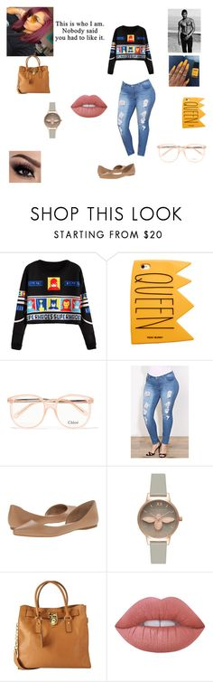 """Usher Pt.2"" by queenraina1 on Polyvore featuring Chloé, Steve Madden, Olivia Burton, Michael Kors and Lime Crime"