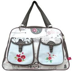 This gorgeous & Sew On Overnight Bag by Disaster Designs is a wonderful travel bag which will delight any crafty traveller