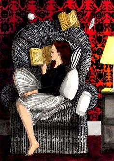 #mycoolness #illustration collection The Reading Chair