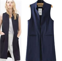 This picture is better, but it does come in white. Women New Arrival Long Vest…