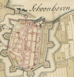 Deze plattegrond Schoonhoven is in 1727 gemaakt door J.B. Prevost. Star Fort, Walled City, Mystery Of History, Old Maps, Fortification, City Maps, Historical Maps, Cartography, Old Pictures