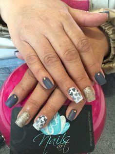 Acrylic Nails, Nails art, grey Nails