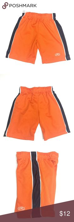 9f01367ec2 Rawlings Orange Athletic Shorts A150391 Rawlings orange athletic casual  shorts. Elastic waistband, blue and