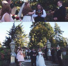 My wedding at Thornewood Castle. 10-3-14 Photo by Dani Berg