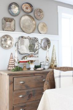 DIY Silver Tray Wall | Rooms FOR Rent Blog Decorative Plates, Home Decor, Homemade Home Decor, Interior Design, Decoration Home, Home Interiors, Home Decoration, Interior Decorating, Home Improvement