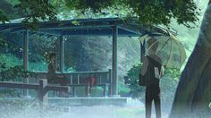 Directed by Makoto Shinkai.  With Miyu Irino, Kana Hanazawa, Fumi Hirano, Gou Maeda. A 15-year-old boy and 27-year-old woman find an unlikely friendship one rainy day in the Shinjuku Gyoen National Garden.
