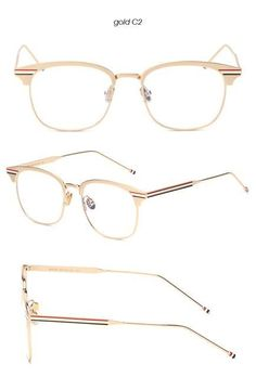 284ade2437 BANSTONE Alloy Half Square Eyeglasses Frames Vintage Glasses Women Men  Glasses Frame Optical Frame Glasses Oculos
