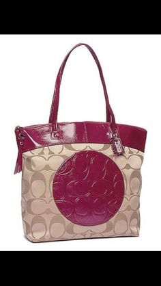 Coach Berry Signature Laura Tote . Starting at $1 on Tophatter.com!