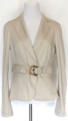 Zara Woman Tan jacket Scrunched Waist Size Small