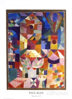 Vue du jardin Posters par Paul Klee sur AllPosters.fr