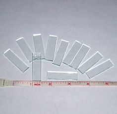 NEW Popular Size (30 Pack) 1/2 inch x 1-1/4 Inch Rectangles .5 x 1.25 Clear Pendant Memory Glass for Collage Altered Art Soldered Jewelry.