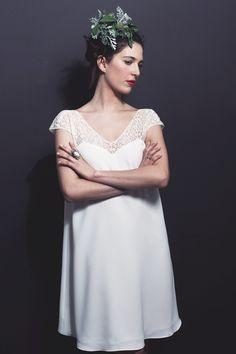 Elie - Robe mariage civil - Stephanie Wolff - Dans les Baskets de la Mariée 2