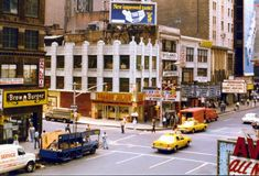 Southeast corner of 7th Avenue and W. 48th Street 1980 From 35mm negative Photo credit: Andy Baum Vintage New York, Old And New, Photo Credit, New York City, Times Square, Street View, Nyc, Taxi, Instagram
