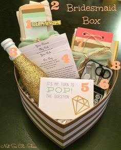 Not So Cli-Shéa: Wedding Wednesday! Bridesmaid Boxes, Bridesmaids And Groomsmen, Wedding Bridesmaids, Bridesmaid Gifts, Bridesmaid Proposal, Wedding 2017, Our Wedding, Dream Wedding, Wedding Ideas