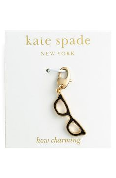 Kate Spade makes charms now?! I'm in trouble. Loving the lipstick one, wosh it was in silver! kate spade new york 'how charming' novelty charm available at #Nordstrom