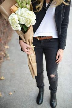 with flowers <3