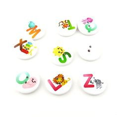 20 Pieces Sewing Clothing Buttons Sew On Wooden Wood Knopfe BB1803 Mixed Letters Round Colorful Plush Lovely Accessory Decoration Handmade Cute Scrapbook Flatback DIY -- Read more reviews of the item by visiting the link on the image.