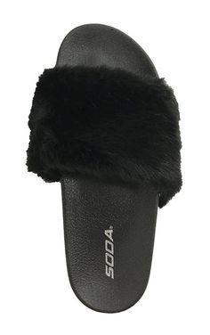 Soda Yoga Slide on Slip On Slippers Furry -- Want to know more, click on the image. (This is an affiliate link) #sandals