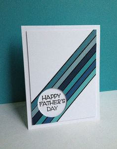 I'm in Haven: Happy Father's Day Stripes. Loved the colors and the graph… I'm in Haven: Happy Father's Day Stripes. Loved the colors and the graphic feel, especially for a masculine card. Diy Father's Day Cards, Cool Cards, Bday Cards, Birthday Cards For Men, Masculine Birthday Cards, Masculine Cards, Fathers Day Cards Handmade, Happy Fathers Day Cards, Karten Diy
