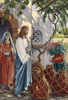 Jesus turned water into wine on the 3rd day there was a wedding in Cana of Galilee