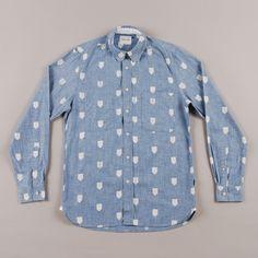 Wood Wood West Street Shirt - Light Indigo Insignia