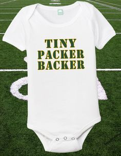 Green Bay Packer Onesie Baby Packer Shirt 06 by FunhouseTshirts, $13.99