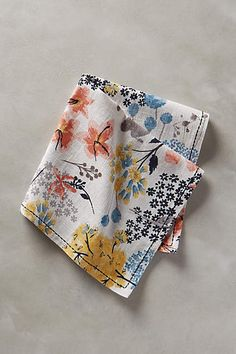 BOTANIST KNOLL NAPKIN Entertaining expert Lulu Powers used this cheery print on her Easter brunch table. ($8, anthropologie.com). Click through for the entire gallery and for more easter table decorations.