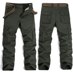 fbda199b6aa6 New Men s Cargo Pants Army Green Black Big Pockets Decoration Easy Wash Trousers  Male Spring Autumn Casual Pants Men Plus Size-in Casual Pants from Men s ...