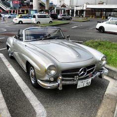 Mercedes Benz #190SL. Via: instagram.com/classiccars_in_tokyo. For all your Mercedes Benz 190SL restoration needs please visit us at http://www.bruceadams190sl.com