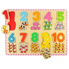 Number and Color Matching 20 pc Wooden Puzzle - Educational Toys Planet Wooden Puzzles, Wooden Letters, Wooden Toys, Jigsaw Puzzles, Learning Colors, Kids Learning, Puzzle Frame, Thing 1, Maths Puzzles