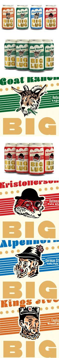 Big Lug's Flagship Brews Come With a Wonderful Vintage Vibe — The Dieline | Packaging & Branding Design & Innovation News
