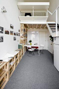 Estudios y oficinas de estilo industrial por studio wok