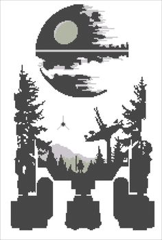 #171 BOGO FREE! Star wars droid R2D2 Death Star Star wars - pdf cross stitch pattern instant download For your consideration is a beautiful counted cross stitch pattern/chart as shown in the picture. Pattern Details: This pattern is in PDF format and consists of a floss list, and a color symbol chart. A small sample of the color symbol chart is shown in the last photo. General instructions on how to make the item as shown are also provided. This listing is for a full-colour PDF pat...