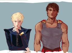 Damen and Laurent Character Inspiration, Character Design, Fanart, Captive Prince, Book People, Male Photography, Book Characters, Book Nerd, Cute Couples