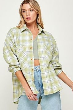 Oversized Plaid Jacket 85% Polyester 15% Wool Button-Front Front Pockets Oversized In Stock Plaid Jacket, Men Casual, Pockets, Wool, Button, Mens Tops, Products, Fashion, Moda