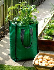 Grow potatoes in bags - perfect for small gardens, read how to do it here.