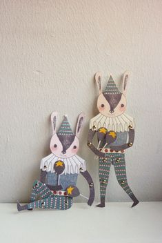 Mr. Rabbit - articulated paper doll