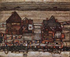SCHIELE (Egon Schiele Landscape Two Houses (via griffinlb))Egon Sciele