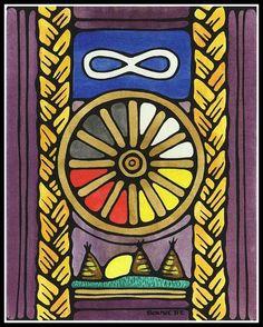 Ayla Bouvette - Metis Art - Prairie Metis Symbols