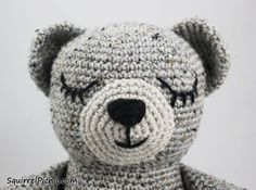 How To Add Faces To Your Amigurumi Part 3: Sleepy Face • Free tutorial with pictures on how to embroider in under 30 minutes